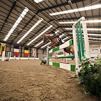 Pictured is Claire Sharp aged 16 from Alloway, Ayrshire and her pony Spiffy, taking part in a show jumping competition at Rowallan Activity Centre, Fenwick, Ayrshire. Claire and Spiffy have qualified twice for this years prestigious Horse of the Year Show to be held at the NEC Arena in Birmingham in October. Picture Christian Cooksey