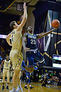 Kent State Golden Flashes guard Jaylin Walker (23) shoots against Vanderbilt Commodores forward Yanni Wetzell (1) during the second half of an NCAA basketball game in Nashville, Tenn., Friday, Nov. 23, 2018. Kent State won 77-75. (Jim Brown/Image of Sport)