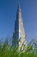 The Burj Khalifa skyscraper in Dubai is presently the tallest building in the world, standing at 2,716 feet.