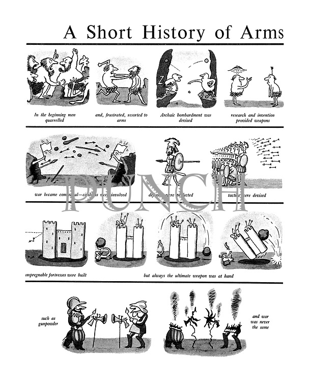 War, History cartoons by Arnold Roth from Punch magazine