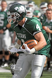 28 September 2013:  Tate Musselman during an NCAA division 3 football game between the Hope College Flying Dutchmen and the Illinois Wesleyan Titans in Tucci Stadium on Wilder Field, Bloomington IL
