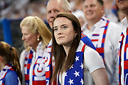 Rose Lavelle is honored at half time during a MLS soccer game between FC Cincinnati and D.C. United, Thursday, July 18, 2019, in Cincinnati, OH. D.C. United defeated FC Cincinnati 4-1. (Jason Whitman/Image of Sport)