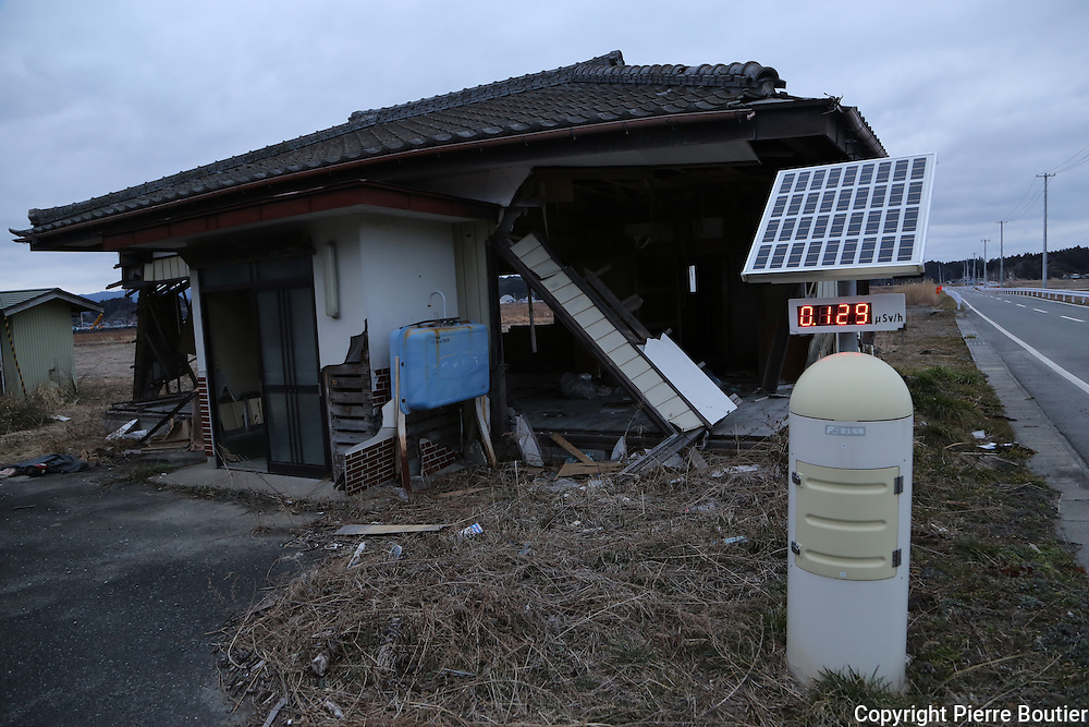 February,28.2016 Minami Soma,fukushima prefecture,land  where  hundred  of houses were detroyed by Tsunami five year before some house  still stay abandonned after the wave came, last year people are allow to return to their hometown  . Pierre  Boutier