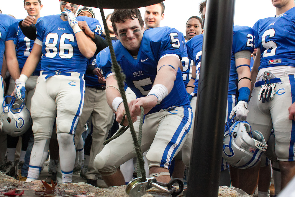Connor Emmert, of Colby College, during a NCAA Division III football game on November 8, 2014 in Waterville, ME. (Dustin Satloff/Colby College Athletics)
