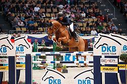 Knippling, Andreas (GER), Csarano D´Argilla Z<br /> München - Munich Indoors 2016<br /> Grosser Preis der Deutschen Kreditbank, Finale der DKB-Riders Tour<br /> © www.sportfotos-lafrentz.de / Stefan Lafrentz