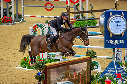 Karel Cox (BEL) & Evert - THE LONGINES FEI JUMPING WORLD CUP™ - Olympia, The London International Horse Show - Olympia, London, United Kingdom - 22 December 2018