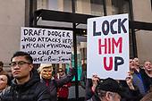 Anti-Trump protesters at NYC Veterans Day Parade