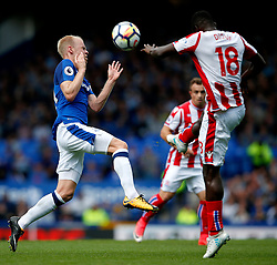 Davy Klaassen of Everton challenges Mame Biram Diouf of Stoke City - Mandatory by-line: Matt McNulty/JMP - 12/08/2017 - FOOTBALL - Goodison Park - Liverpool, England - Everton v Stoke City - Premier League