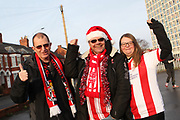 Lincoln City fans during the EFL Sky Bet League 2 match between Crewe Alexandra and Lincoln City at Alexandra Stadium, Crewe, England on 26 December 2018.