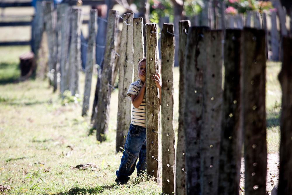 Aquidauana_MS, Brasil...Crianca proxima a uma cerca na fazenda Rio Negro no Pantanal...A child next to a fence in Rio Negro in the Pantanal...Foto: JOAO MARCOS ROSA / NITRO