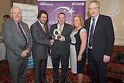 31/01/2014 REPRO free.<br /> From Left  CforC Chief Executive Bob Barbour, Matt Fisher, EFQM,  presenting Mark Long and Natalie Smith from Clontarf Castle and Dr Tony Lenehan, F&aacute;ilte Ireland  at Galway Bay Hotel for 2013 EFQM IRELAND EXCELLENCE AWARDS AT EUROPEAN EXCELLENCE .<br /> <br /> Levels of recognition include: Ireland Excellence Award, Excellence 5 Star Award, Excellence 4 Star Award, STEPS to Excellence, and Gold Star Service Excellence. The Awards are not an end in themselves but a means of assessing and recognising role model organisations against the most rigorous international quality standards while encouraging management and staff to continue their excellence journey to the next level.