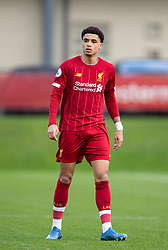 LIVERPOOL, ENGLAND - Monday, February 24, 2020: Liverpool's Ki-Jana Hoever during the Premier League Cup Group F match between Liverpool FC Under-23's and AFC Sunderland Under-23's at the Liverpool Academy. (Pic by David Rawcliffe/Propaganda)