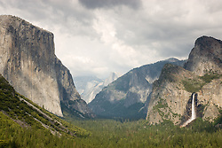 """Yosemite Valley""- Photographed from the popular Tunnel View vista area. Often called Inspiration Point."