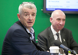 Pictured: Michael O'Leary and Sir John Elvidge, Chairman of Edinburgh Airport.<br />