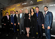 """From left to right, Chuck Rose, creator, writer, executive producer; Eric Berger, EVP, Digital Networks, Sony Pictures Television and General Manager, Crackle; actor Cary Elwes; actor Christian Cooke; Brendan Kelly, executive producer, writer; Tamara Chestna, executive producer; actress Sandrine Holt; actor and executive producer Dennis Quaid and actor Patrick Sabongui attend Crackle's """"The Art of More"""" season two premiere, Tuesday, Nov. 15, 2016, at the Museum of Arts and Design in New York. Sony's streaming network, Crackle, will launch season two of its first original scripted drama, """"The Art of More,"""" on November 16th.  (Photo by Diane Bondareff/Invision for Crackle/AP Images)"""