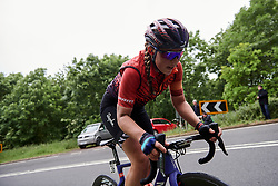 Lisa Klein (GER) on the categorised climb at Stage 4 of 2019 OVO Women's Tour, a 158.9 km road race from Warwick to Burton Dassett, United Kingdom on June 13, 2019. Photo by Sean Robinson/velofocus.com
