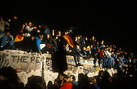 Celebrating the fall of the Berlin Wall