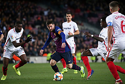January 30, 2019 - Barcelona, Spain - Leo Messi during the match between FC Barcelona and Sevilla FC, corresponding to the secong leg of the 1/4 final of the spanish cup, played at the Camp Nou Stadium, on 30th January 2019, in Barcelona, Spain. Photo: Joan Valls/Urbanandsport /NurPhoto. (Credit Image: © Joan Valls/NurPhoto via ZUMA Press)