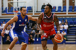 Panos Mayindombe of Bristol Flyers drives with the ball - Photo mandatory by-line: Arron Gent/JMP - 28/09/2019 - BASKETBALL - Crystal Palace National Sports Centre - London, England - London City Royals v Bristol Flyers - British Basketball League Cup