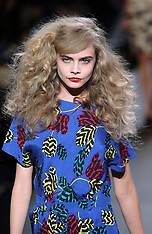 FEB 11 2013 Cara Delevingne on the catwalk at the Marc by Marc Jacobs show A/W 13