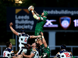 Sebastian De Chaves of London Irish catches the ball from a line out - Mandatory by-line: Robbie Stephenson/JMP - 17/05/2017 - RUGBY - Headingley Carnegie Stadium - Leeds, England - Yorkshire Carnegie v London Irish - Greene King IPA Championship Final 1st Leg