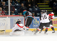 KELOWNA, CANADA, DECEMBER 3: The Prince George Cougars visit the Kelowna Rockets  on December 3, 2011 at Prospera Place in Kelowna, British Columbia, Canada (Photo by Marissa Baecker/Shoot the Breeze) *** Local Caption ***