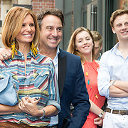 NLD/Amsterdam/20150620- Filmpremiere Code M, Leontine Borsato en Marco Borsato, Luca Borsato en vriendin Victoria