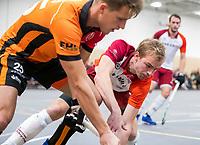 DELFT - Daan Dekker (Almere)   tijdens de zaalhockey hoofdklasse competitiewedstrijd Oranje Rood-Almere . COPYRIGHT KOEN SUYK