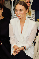 © Licensed to London News Pictures. 22/02/2016. LAURA HADDOCK attends the ANTONIO BERARDI show at the London Fashion Week Autumn/Winter 2016 show. Models, buyers, celebrities and the stylish descend upon London Fashion Week for the Autumn/Winters 2016 clothes collection shows. London, UK. Photo credit: Ray Tang/LNP