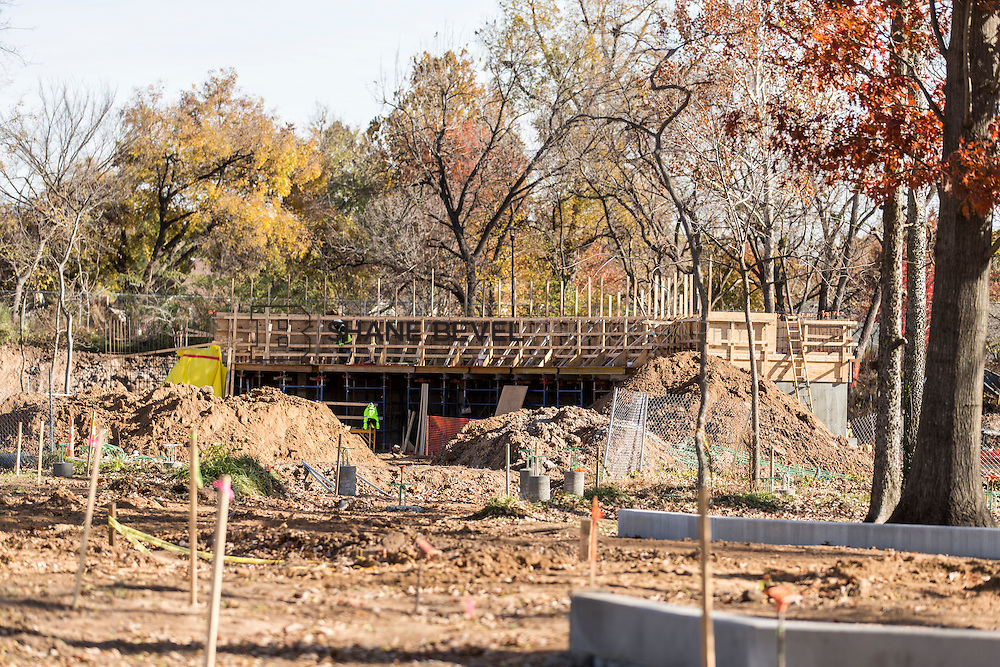 12/6/16 2:36:37 PM -- Updates of the ramble, wetlands, cabana, maintenance building and geofoam installation<br /> <br /> Photo by Shane Bevel