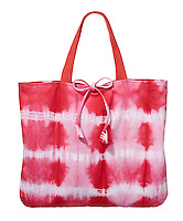 Pink tie dye bag on white background