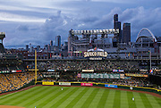 SEATTLE, WA- APRIL 24: A general view of the Seattle skyline during a game between the Seattle Mariners and the Minnesota Twins on April 24, 2015 at Safeco Field in Seattle, Washington. The Mariners defeated the Twins 2-0. (Photo by Brace Hemmelgarn) *** Local Caption ***