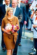 ROTTERDAM - Koningin MAxima is aanwezig bij de Viering van het 1.000ste taaltraject in het Onderwijscentrum van het Erasmus MC COPYRIGHT ROBIN UTRECHT
