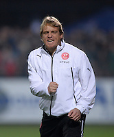 Fussball  2. Bundesliga  Saison 2013/2014  13. Spieltag VfR Aalen - Fortuna Duesseldorf    01.11.2013 Michael Bueskens (Fortuna Duesseldorf) emotional