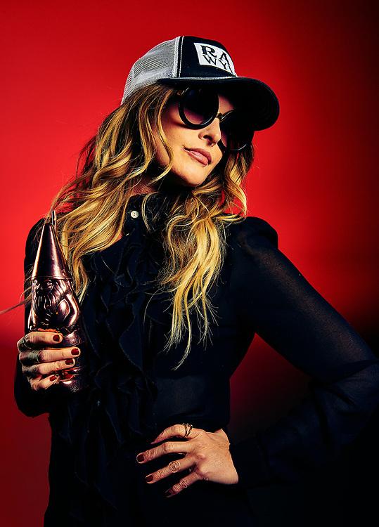 Nashville Musician Elizabeth Cook photographed for Adult Swim's Celebrity Poker tournament
