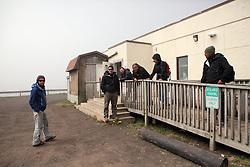 USA ALASKA ST PAUL ISLAND 8JUL12 - Greenpeace ship Esperanza crew at the Aleut community centre on the island of St. Paul in the Bering Sea, Alaska.......Photo by Jiri Rezac / Greenpeace....© Jiri Rezac / Greenpeace