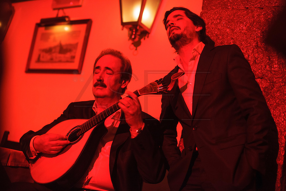 "Fado singer Rodrigo Costa Félix  at ""Clube de Fado"" restaurant. Fado was classified by UNESCO as Untangible World Heritage in November 2011."