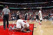 LOUISVILLE, KY - DECEMBER 2: Chane Behanan #24 of the Louisville Cardinals reacts after missing a lay up that would have won the game against the Vanderbilt Commodores at KFC Yum! Center on December 2, 2011 in Louisville, Kentucky. Louisville defeated Vanderbilt 62-60 in overtime. (Photo by Joe Robbins) *** Local Caption *** Chane Behanan
