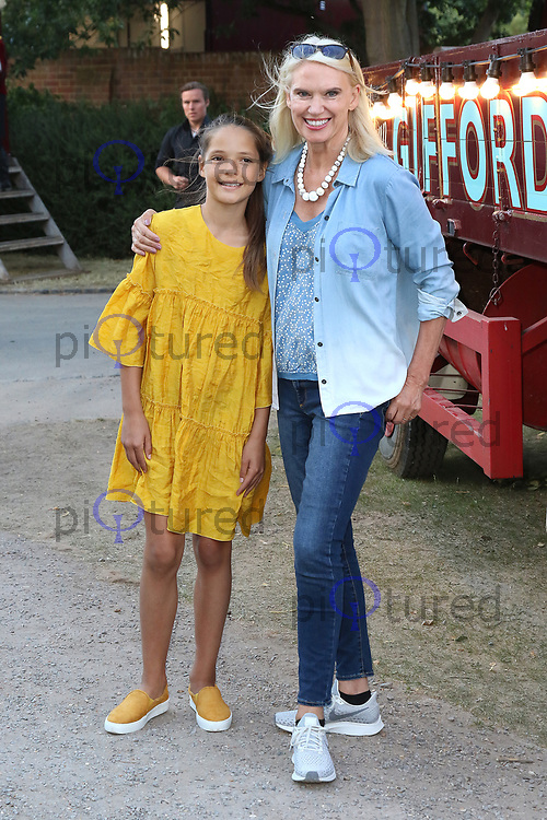 Anneka Rice, Giffords Circus Press Night - Celebrity Arrivals, Chiswick House & Gardens, London, UK, 28 June 2018, Photo by Richard Goldschmidt