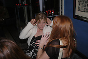 Emilia Fox and  Charlotte Tilbury, 'Pret-a-Portea'M.A.C. launches High Tea collection with British fashion designers. Berkeley Hotel. 17 January 2004. ONE TIME USE ONLY - DO NOT ARCHIVE  © Copyright Photograph by Dafydd Jones 66 Stockwell Park Rd. London SW9 0DA Tel 020 7733 0108 www.dafjones.com