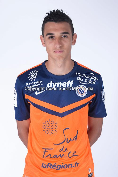 Ellyes SKHIRI - 23.07.2014 - Portraits officiels Montpellier - Ligue 1 2014/2015<br /> Photo : Icon Sport
