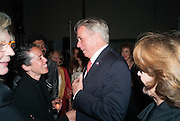 SARAH SZE; AMBASSADOR DAVID THORNE, The Bronx Museum of the Arts, Tanya Bonakdar Gallery and the Victoria Miro Gallery host a reception and dinner in honor of Sarah Sze: Triple Point. Representing the United States of America at the 55th Biennale di Venezia with the Co  Commissioners of the  U. S. Pavilion Holly Block, Executive Director of the Bronx Museum of the arts  and Carey Lovelace. <br /> <br /> Rialto Fish market. Venice. . 29 May 2013
