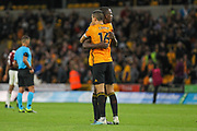 Willy Boly & Conor Coady of Wolverhampton Wanderers during the Europa League play off leg 2 of 2 match between Wolverhampton Wanderers and Torino at Molineux, Wolverhampton, England on 29 August 2019.
