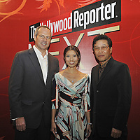 HONG KONG - MARCH 24:  Hollywood Reporter's Senior VP, Publishing Director Eric Mika (L), Executive Director of the Hong Kong International Film Festival Society Soo-Wei Shan (C) and BoA attend The Hollywood Reporter Next Gen Asia Launch Cocktail Reception event at the W Hotel Kowloon on March 24, 2009 in Hong Kong. The initiative has recognised over 500 individuals under 35 over the last 15 years, and is run in conjunction with the Hong Kong International Film Festival.  Photo by Victor Fraile / studioEAST