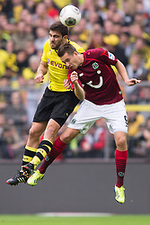 19.10.2013, Signal Iduna Park, Dortmund, GER, 1. FBL, GER, 1. FBL, Borussia Dortmund vs Hannover 96, 9. Runde, im Bild Zweikampf zwischen Sokratis (#25 Dortmund), Artur Sobiech (#9 Hannover) // during the German Bundesliga 9th round match between Borussia Dortmund and Hannover 96 Signal Iduna Park in Dortmund, Germany on 2013/10/19. EXPA Pictures &copy; 2013, PhotoCredit: EXPA/ Eibner-Pressefoto/ Kurth<br /> <br /> *****ATTENTION - OUT of GER*****