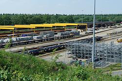 zanderij crailo GNR vanaf de uitkijktoren met de natuurbrug Ecoduct, Natuurbrug, Wildlife crossing. Crailo, Hilversum, Netherlands