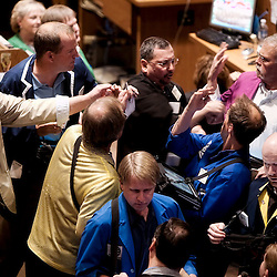 Photos of commodities and futures trading and the support staffs employed in the business at the Kansas City Board of Trade. <br /> <br /> This has been going on since 1856, in the fourth building now I believe, and the KCBT is officially Kansas City's oldest business.