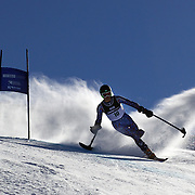 Patrick Parnell, USA, in action during the Men Giant Slalom Standing competition at Coronet Peak, during the Winter Games. Queenstown, New Zealand, 23rd August 2011. Photo Tim Clayton.