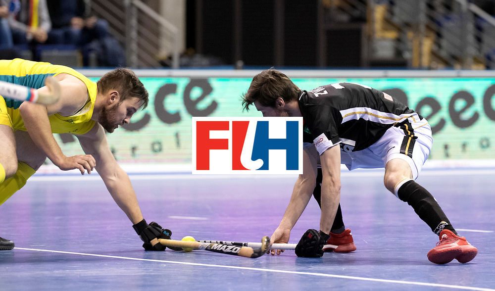 BERLIN - Indoor Hockey World Cup<br /> Men: Germany - Australia<br /> foto: Martin Zwicker.<br /> WORLDSPORTPICS COPYRIGHT FRANK UIJLENBROEK