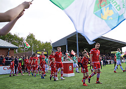 RHOSYMEDRE, WALES - Sunday, May 5, 2019: Connah's Quay Nomads players before the FAW JD Welsh Cup Final between Connah's Quay Nomads FC and The New Saints FC at The Rock. (Pic by David Rawcliffe/Propaganda)